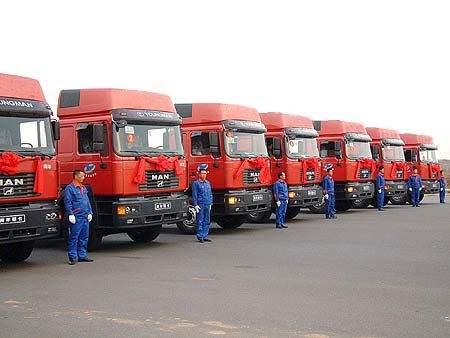 河北省邯郸地区到天津港进出口货物集装箱运输车辆,天津港集装箱运输车队