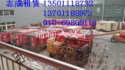 新疆管道试压管道干燥吹扫设备空压机出租120公斤增压机租赁