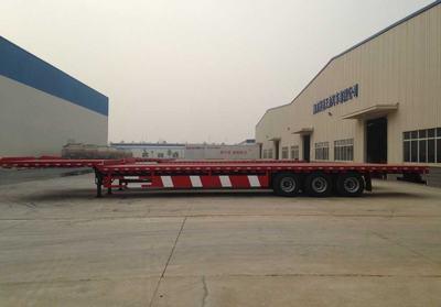 供应SNTO 13m平板半挂车 长途运输 抗震