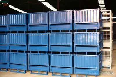定制租赁铁箱折叠金属周转箱钢制铁皮框物流运输保护工厂直销