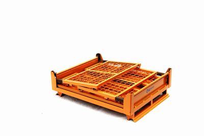 折叠料架周转箱仓储笼金属堆垛架堆垛货架堆高架网笼叉车周转托板