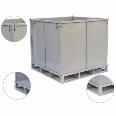 厂家直销重型周转铁箱工业重型废料箱可堆垛可叉车金属箱大铁箱