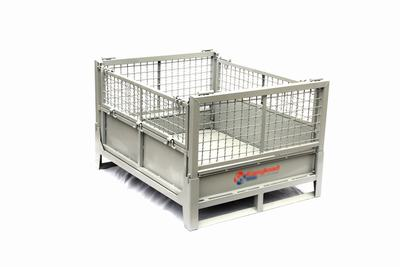 供应安徽可折叠金属周转箱厂家 可回收铁质箱子价格