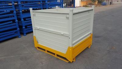 重型废料箱波纹板箱折叠铁皮箱汽车零部件箱车间周转发货铁箱大筐