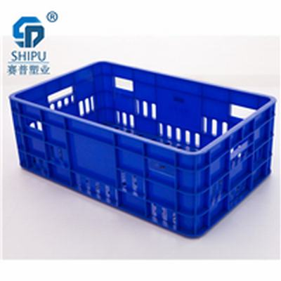 成都批发塑料周转筐尺寸 塑料筐胶筐厂家批发 水果筐蓝色
