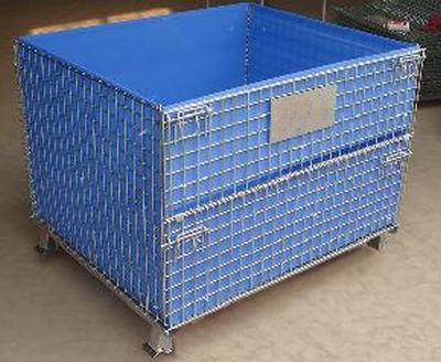 全新可定做仓储笼折叠运输笼物流台车蝴蝶笼车周转铁框带轮子盖子