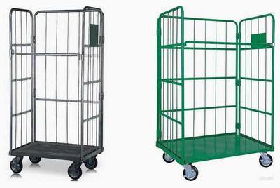 物流台车仓储笼车折叠搬运载物台车可移动理货车仓库分拣车整理