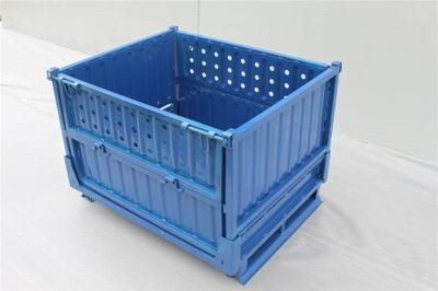 加厚钢制折叠箱 金属周转箱 铁板框折叠 料箱 铁框子 铁皮箱