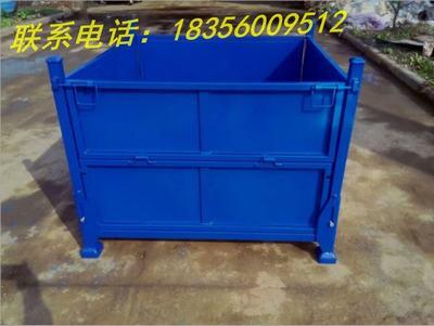 铁金属周转箱长方形物流厂物料五金工具箱工业大号零件铁皮箱加厚