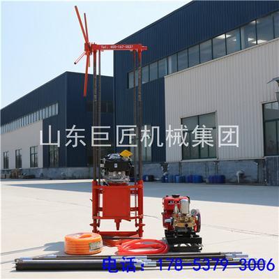 山东巨匠便携式QZ-2B可拆解式地质勘探钻机 浅层打孔现货供应