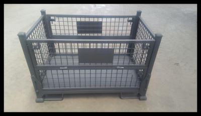 折叠铁框快递分拣车铁笼仓库储物框物流台车周转箱