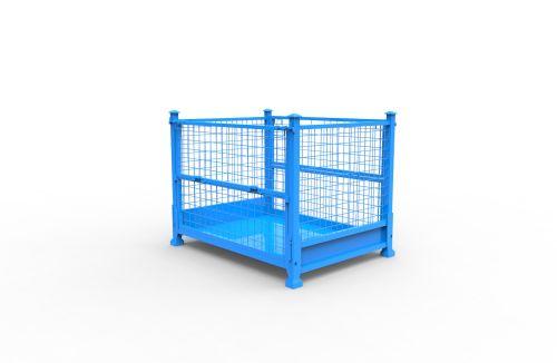 仓储笼铁网笼铁丝笼折叠运输台车周转箱铁框物流车定制租赁