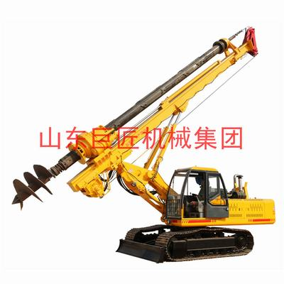 山东巨匠供应15米履带机锁杆旋挖钻机