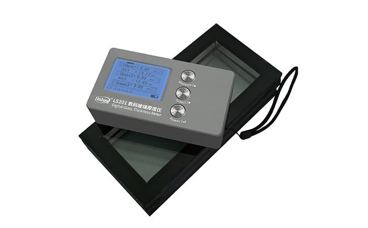 LS201玻璃测厚仪测量玻璃厚度