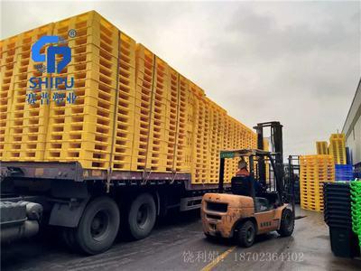 周转货运1412卡板叉车塑胶托盘厂家